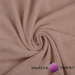 Linen with viscose for clothes - dirty pink (Adobe rose)