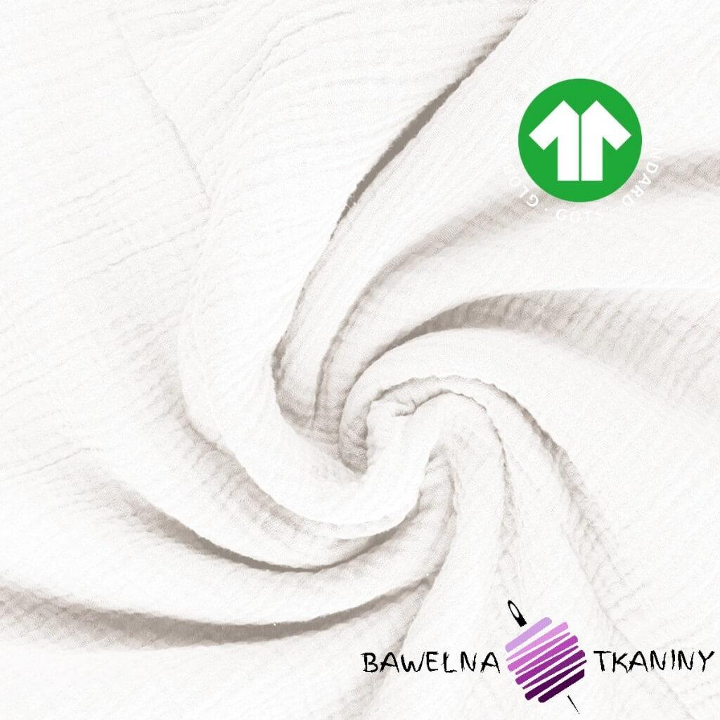 Muślin double gauze biały (white)