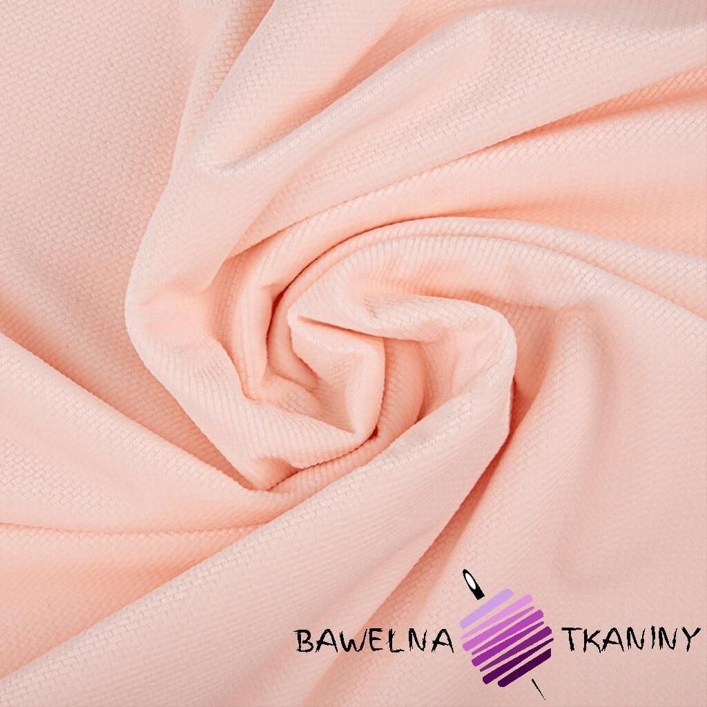Velvet gładki jasna morela (Soft Pink)