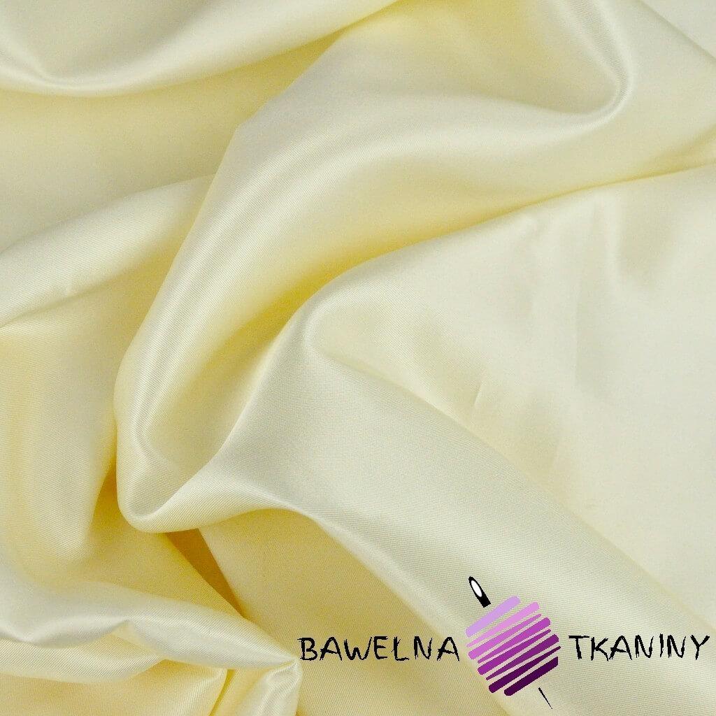Tkanina ubraniowa satyna waniliowa