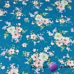 kwiaty bukiety jabłoni na szmaragdowym tle