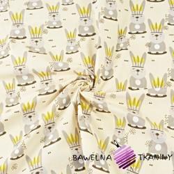 króliki Apacze na waniliowym tle