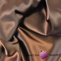 Tkanina ubraniowa satyna z lycrą - mleczna czekolada