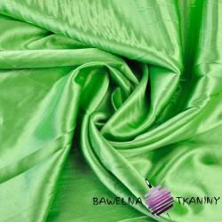 Tkanina ubraniowa satyna z lycrą - jasny zielony