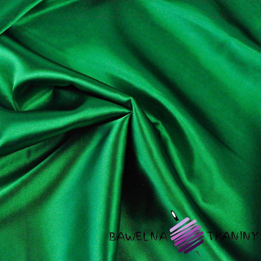 Tkanina ubraniowa satyna z lycrą - zielony choinkowy
