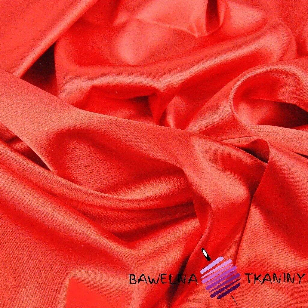 Tkanina ubraniowa satyna z lycrą - czerwona