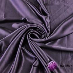Tkanina ubraniowa satyna elastyczna z lycrą - bakłażan