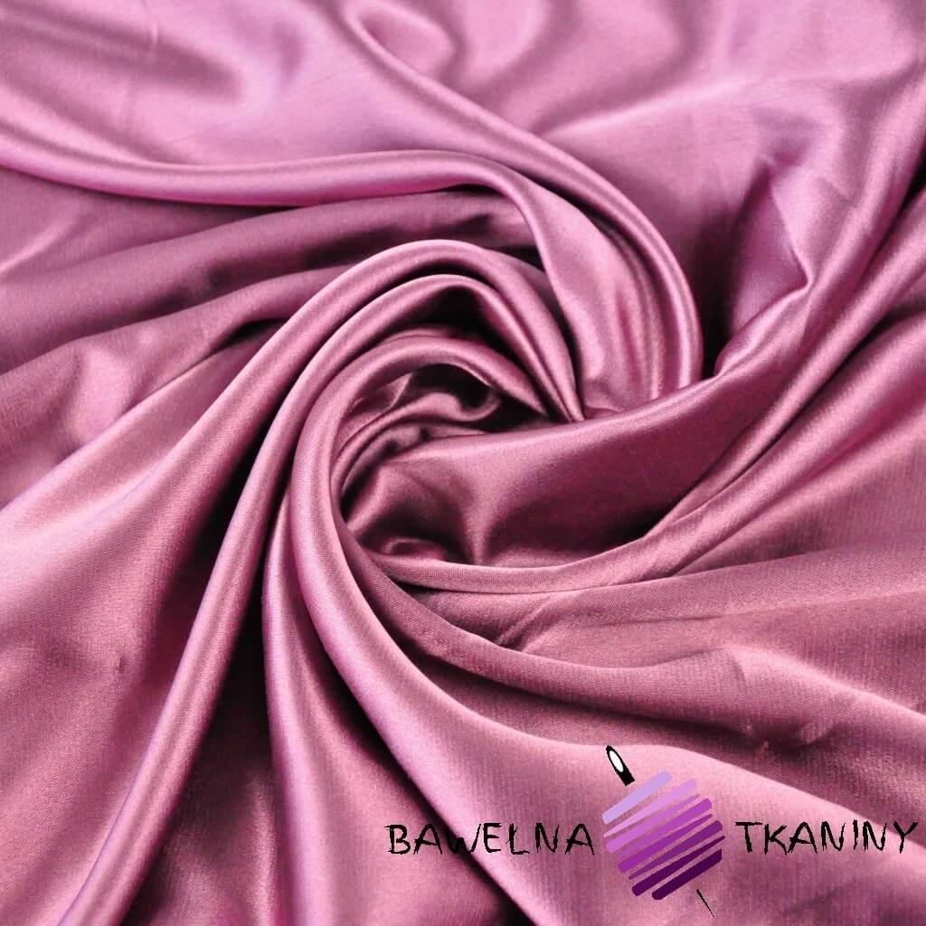 Tkanina ubraniowa satyna elastyczna z lycrą - wrzosowy
