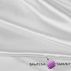 Tkanina ubraniowa satyna z lycrą - biała