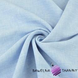 Len 100% odzieżowo - pościelowy błękitno biały melanż - 185g