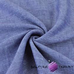 Len 100% odzieżowo - pościelowy niebiesko fioletowy melanż - 185g