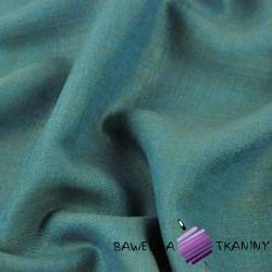 Len 100% odzieżowo - pościelowy turkusowo zielony melanż - 185g