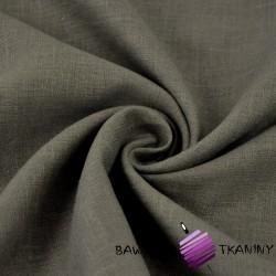 Len 100% odzieżowo - pościelowy - pastelowy brąz - 185g