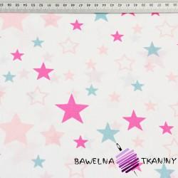 gwiazdozbiór różowo amarantowo niebieski na białym tle
