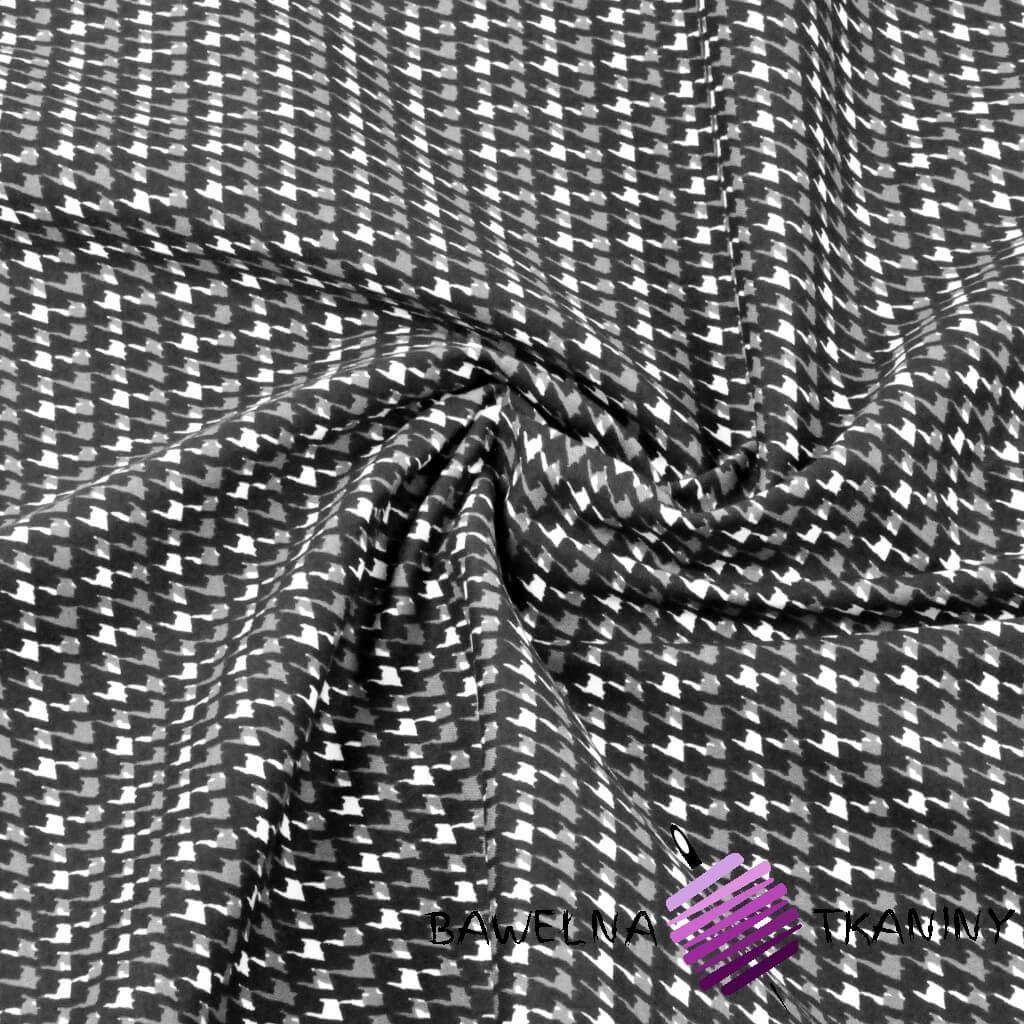 Tkanina ubraniowa (pepitka) bawełna + lycra
