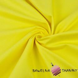 Tkanina ubraniowa bawełna z lycrą - żółta