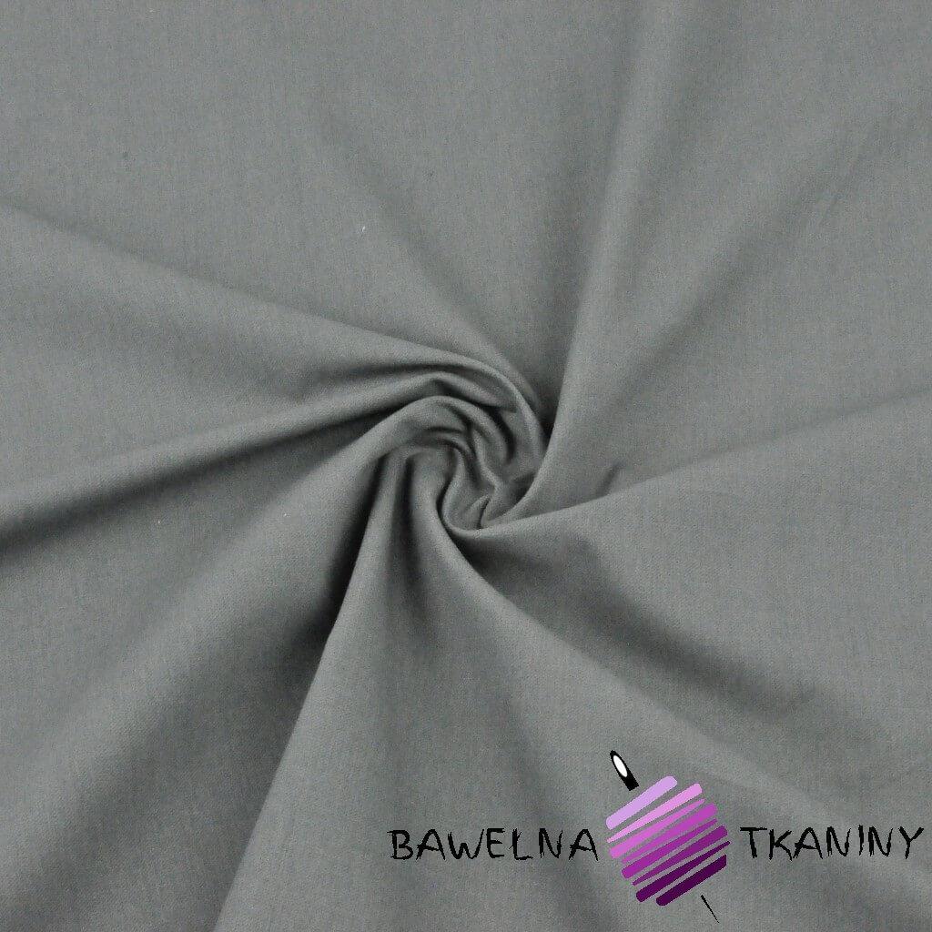 Tkanina ubraniowa bawełna z lycrą - szara