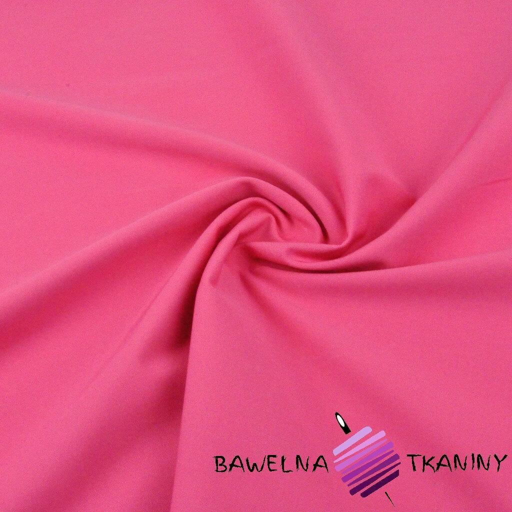 Tkanina ubraniowa bawełna z lycrą - różowa