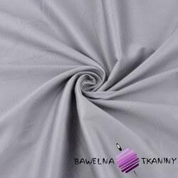 Tkanina ubraniowa bawełna z lycrą - stalowa