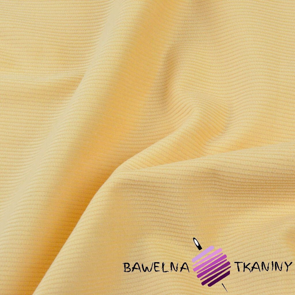 Tkanina ubraniowa sztruks morelowy