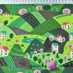 domki na zielonej polanie
