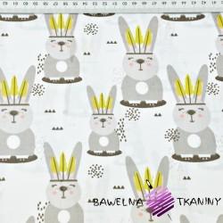 króliki Apacze na białym tle