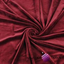 Welur bawełniany odzieżowy -  bordowy