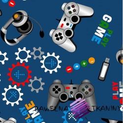 Bawełna gry komputerowe na niebieskim tle
