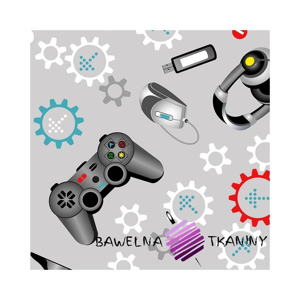 Bawełna gry komputerowe na szarym tle