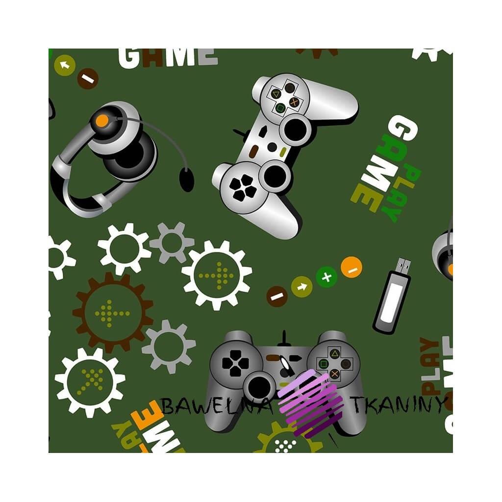 Bawełna gry komputerowe na zielonym tle
