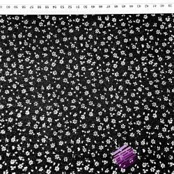 łączka MINI z kropeczkami biała na czarnym tle