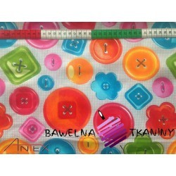 Cotton 100% colorful buttons