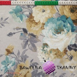 Bawełna kwiaty 9 CANVAS