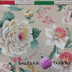 Bawełna kwiaty 14 CANVAS