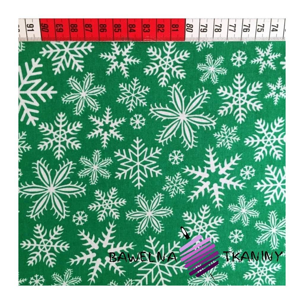 Bawełna śnieżynki Zielone