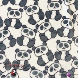 Polar plus szare Pandy na białym tle