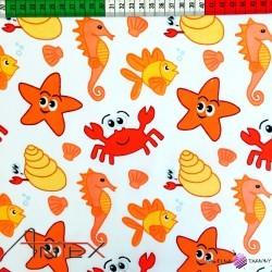 Bawełna pomarańczowe morskie stworzenia
