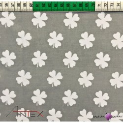 Cotton white clover on gray background