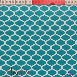 Bawełna wzrór maroko morski