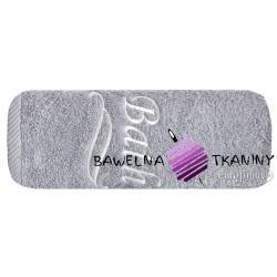 Ręcznik Bath 100x150 srebrny