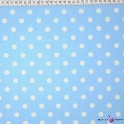 Bawełna Szare kropki na białym tle
