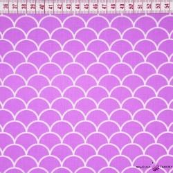 Bawełna łuski fioletowe tło