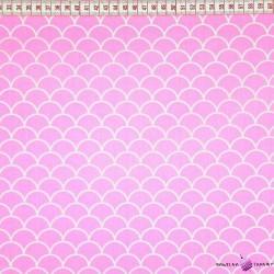 Bawełna łuski różowe tło