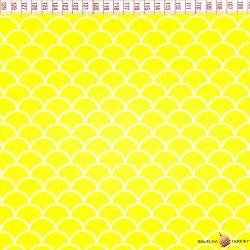 Bawełna łuski żółte tło
