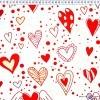 Bawełna czerwono miętowe latające serca