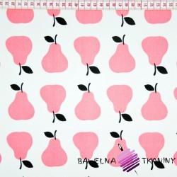 Bawełna różowe gruszki na białym tle