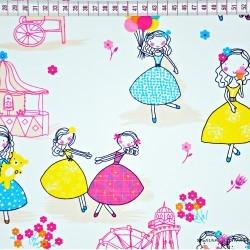 Bawełna tancerki kolorowe na białym tle