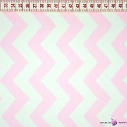 Bawełna zygzak jasno różowy