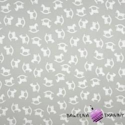 Bawełna koniki na biegunach na szarym tle