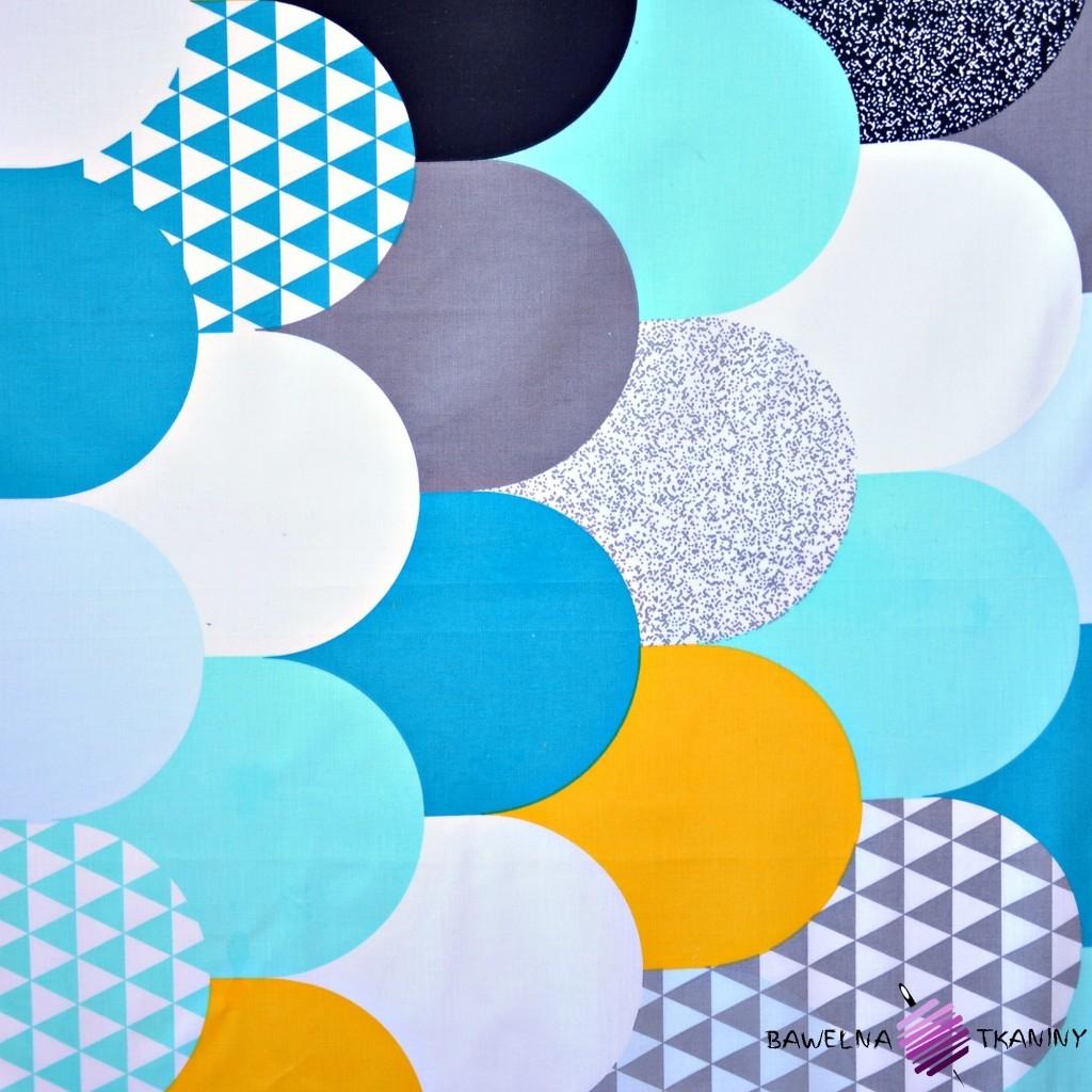 Bawełna kolorowy patchwork w łuski